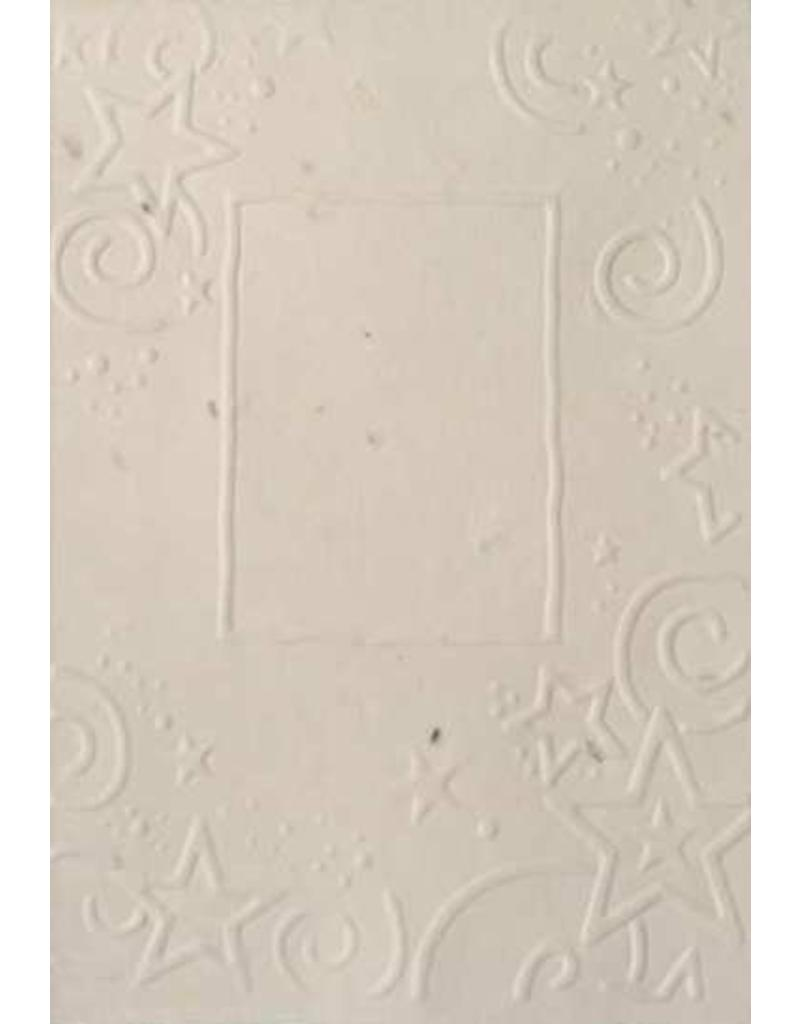 Cotton growing paper christmas card with stars