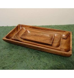 Kinta sushi serving platter small acacia wood