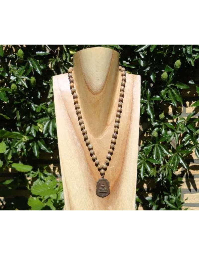 JewelryByM ketting luipaard steen & Boeddha