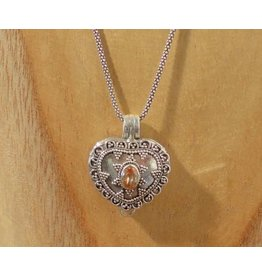 Keepsake locket heart citrine