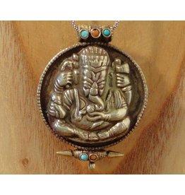 Tibetaans gebedsdoosje Ganesha