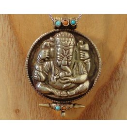 Tibetan prayerbox Ganesha