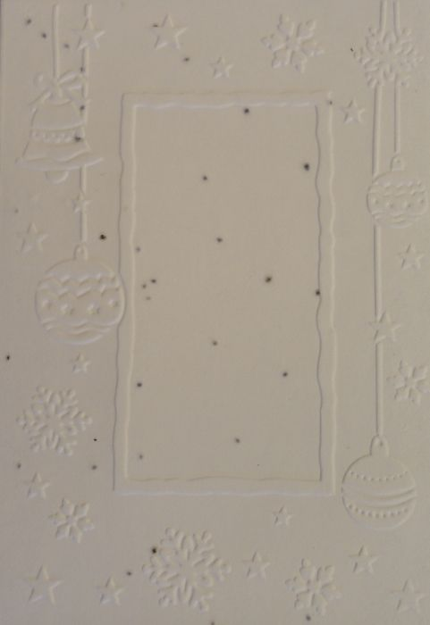 Cotton growing paper christmas card with little stars & ornaments