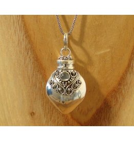 Keepsake locket bottle moonstone