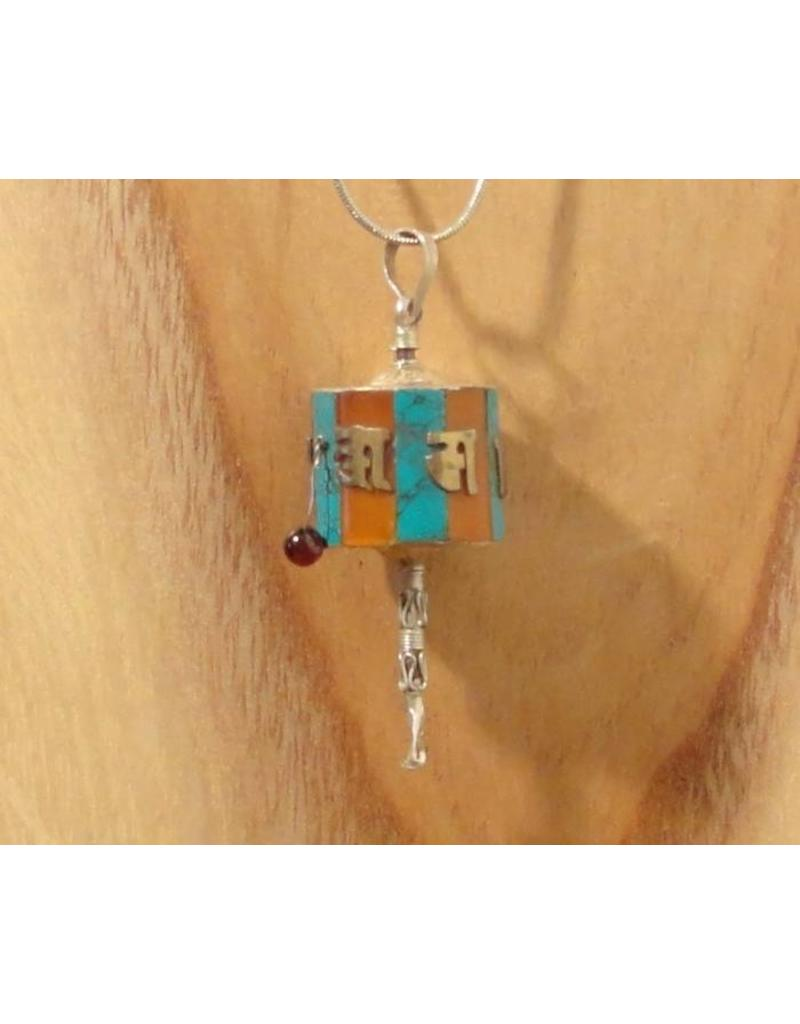 Tibetan pendant prayerwheel L