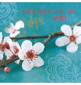 ZintenZ postcard Alles begint met een wens