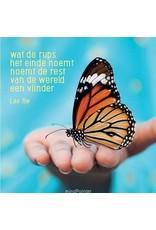 ZintenZ postkaart Wat de rups het einde noemt