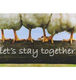 ZintenZ postkaart Let's stay together
