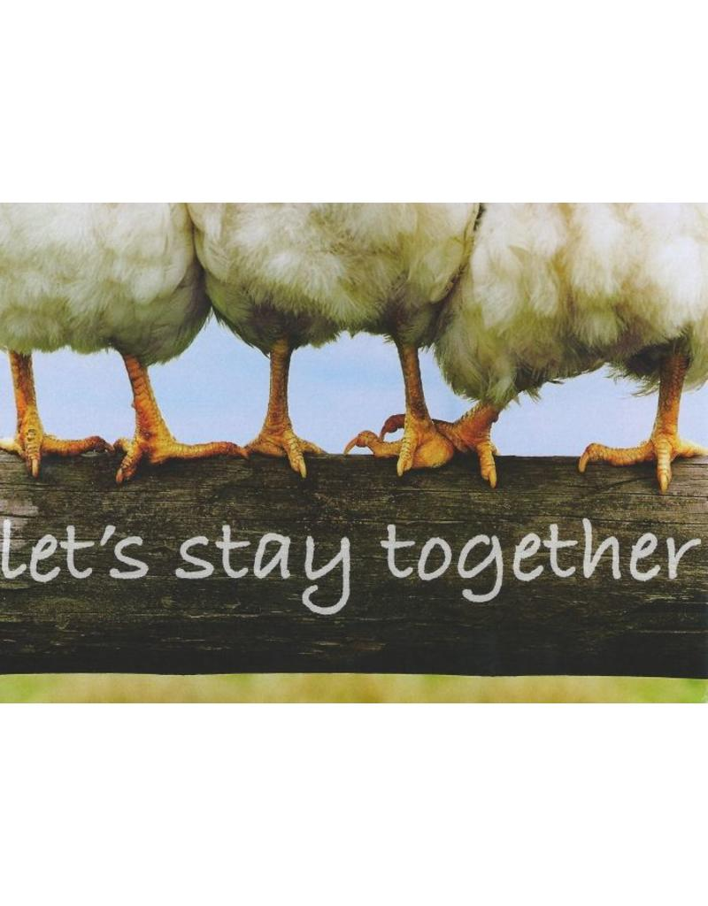 ZintenZ postkaart Let's stay together