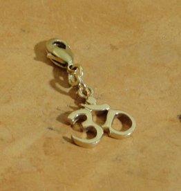 Shanti charm Ohm recycled brass
