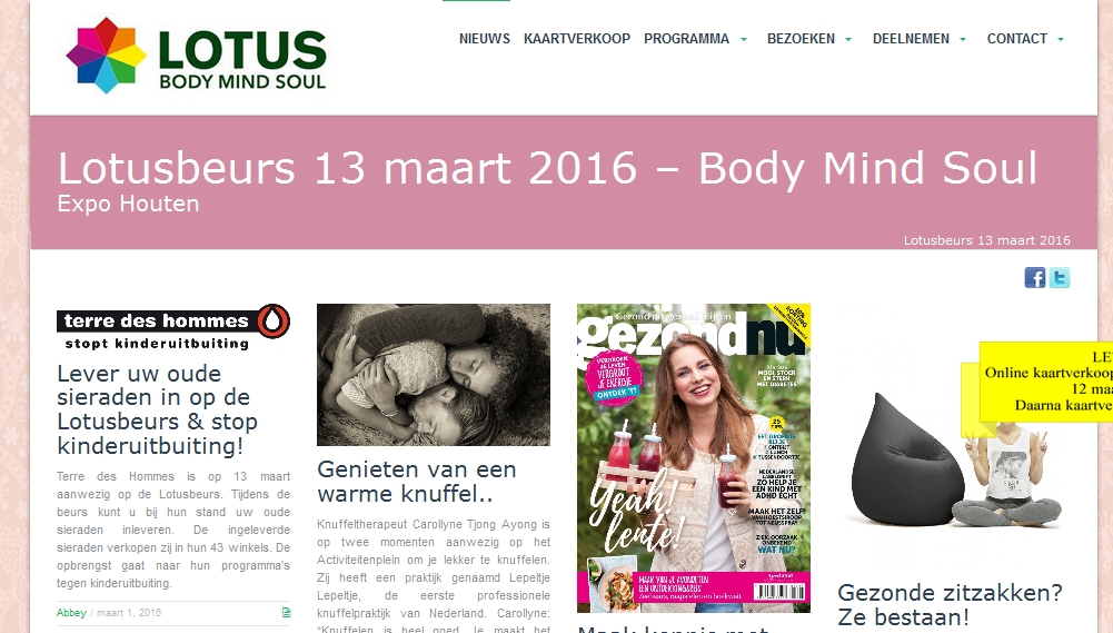 Lotusbeurs website