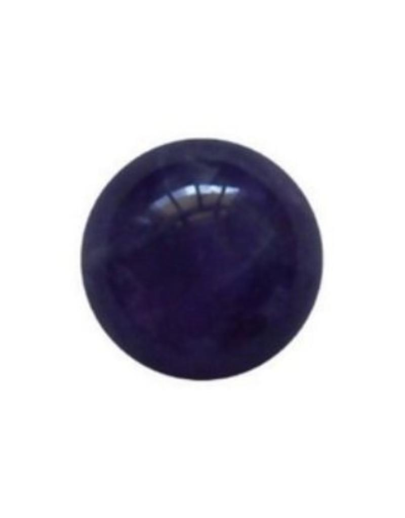 Interchangeable gemstone Amethyst purple 12 mm