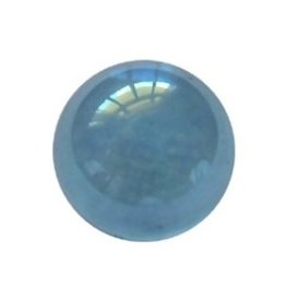 Interchangeable gemstone Aqua Aura 10 mm
