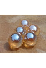 Interchangeable gemstone Golden Aura 10 mm