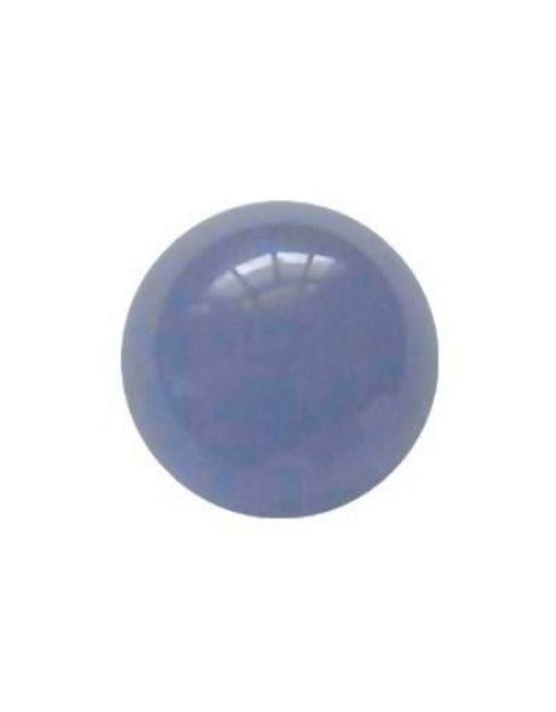 Interchangeable gemstone Agate blue 12 mm