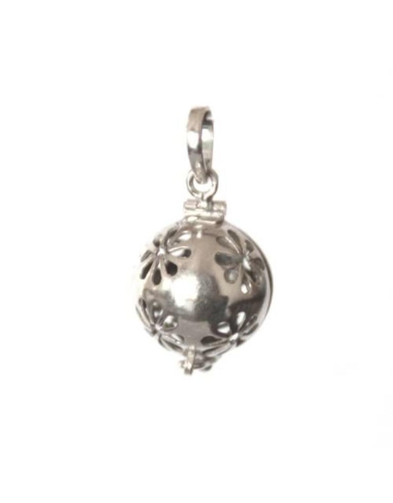 Gemstone holder pendant Flower 12 mm