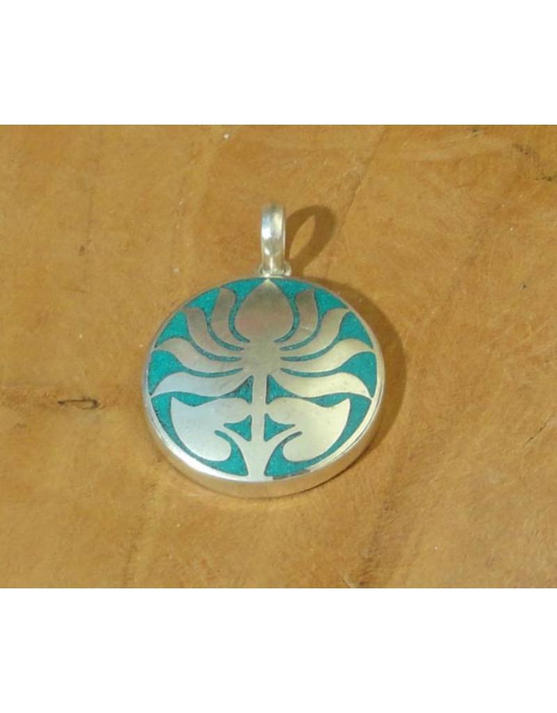 Dakini Tibetan pendant lotus turquoise