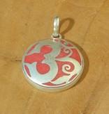 Dakini Tibetan pendant Ohm red