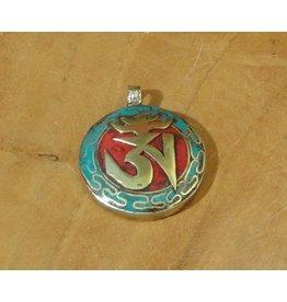 Dakini Tibetan pendant Om red