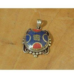 Dakini Tibetan pendant Ohm filigrain