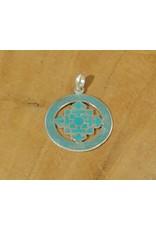 Dakini Tibetan pendant mandala turquoise