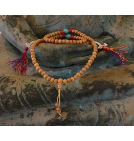 Dakini Mala rosewood light with counters