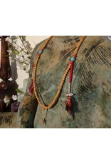 Dakini Mala light rosewood with counters