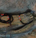 Dakini Mala set with black and red glass beads