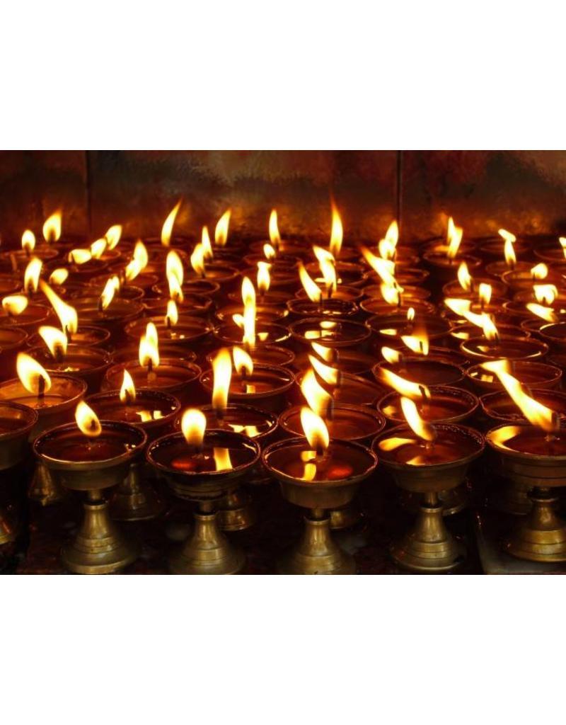 Dakini Tibetaanse boterlamp messing