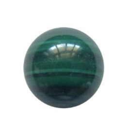 Interchangeable gemstone Malachite 12 mm