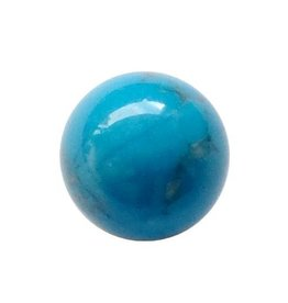 Interchangeable gemstone Howlite blue 10 mm