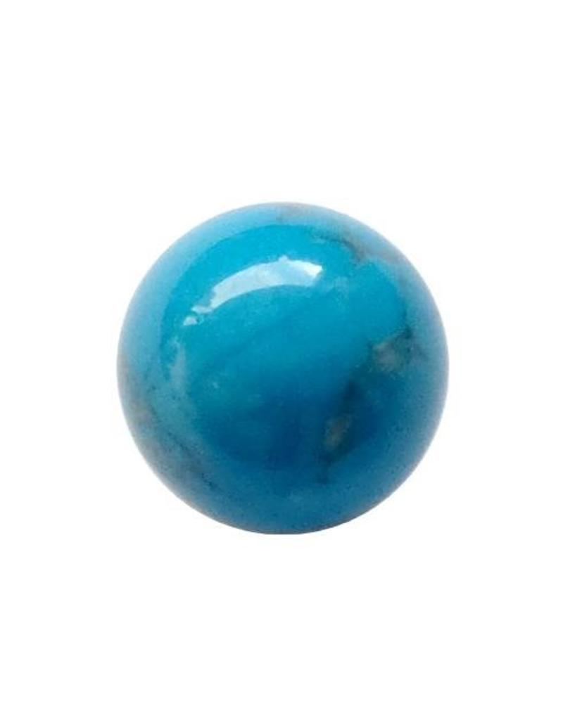 Interchangeable gemstone Howlite blue 10 mm