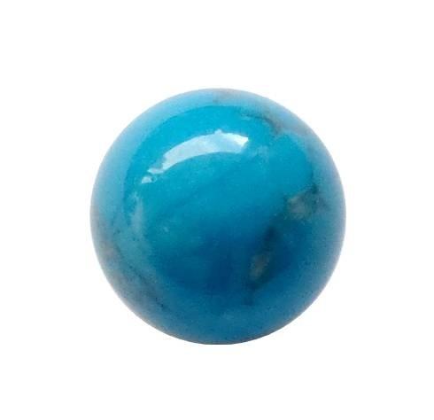 Interchangeable gemstone Howlite blue