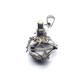 Gemstone holder pendant Bottle 12 mm