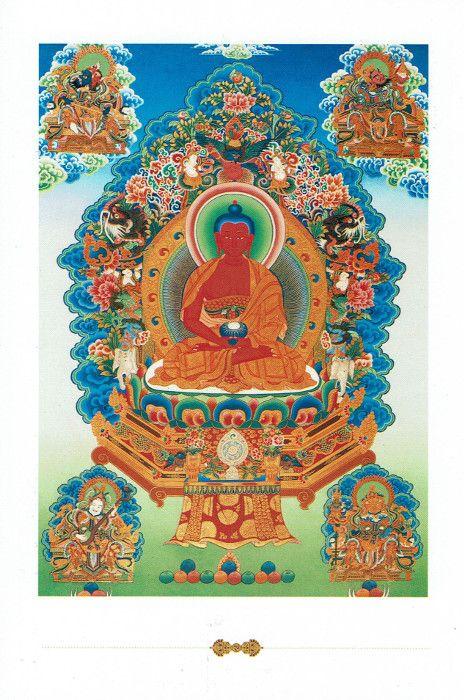 Dakini postcard Amitabha Buddha