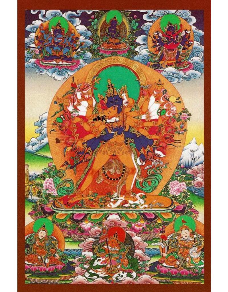 Dakini postcard Kalachakra Buddha