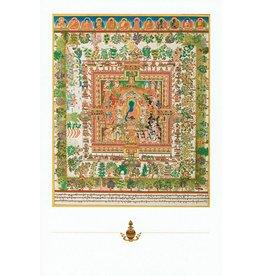Dakini postkaart Medicijn Boeddha mandala