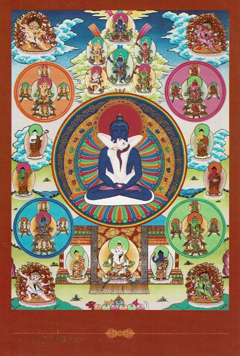 Dakini postcard Samantabhadra & Samantabhadri