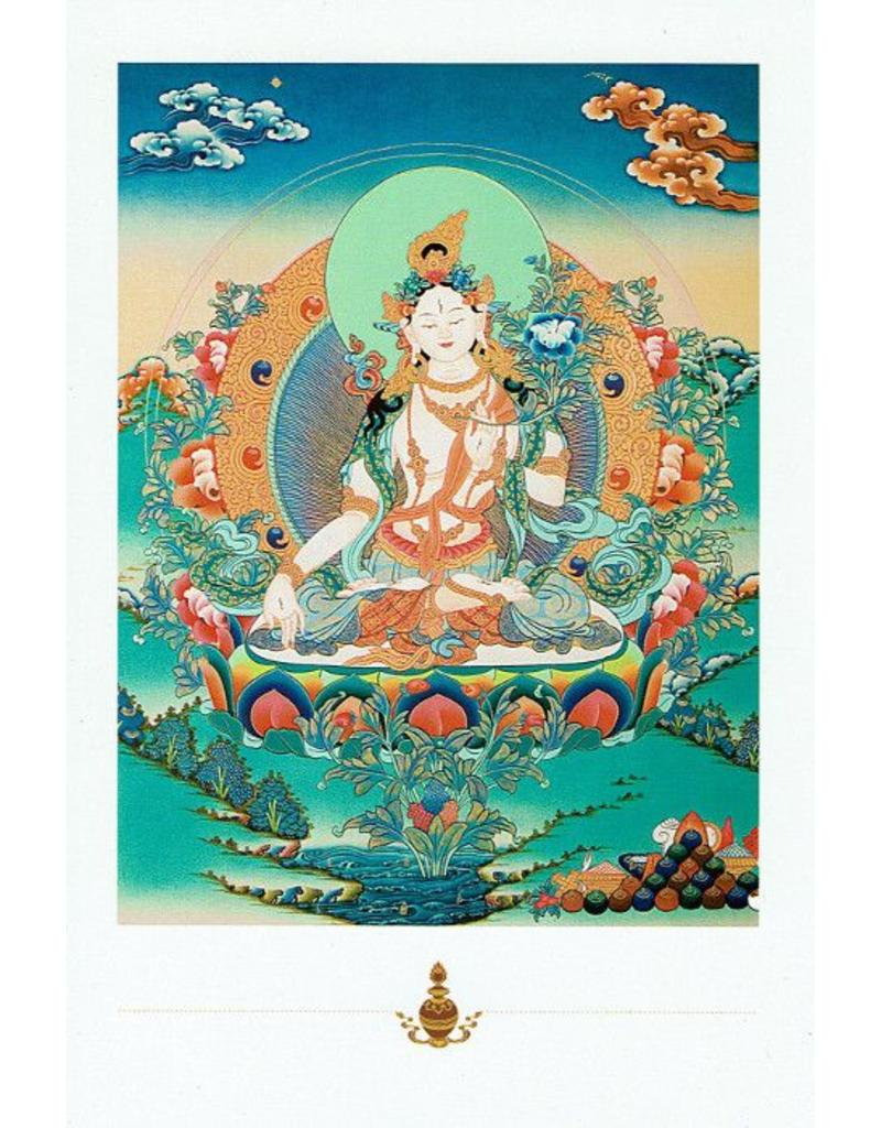 Dakini postcard White Tara