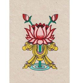 Dakini greeting card Lotus