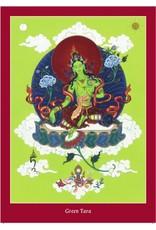 Tibetan Buddhist Art postcard Green Tara