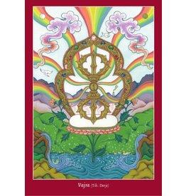 Tibetan Buddhist Art postcard Vajra