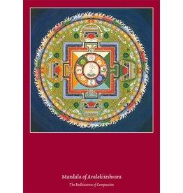 Tibetan Buddhist Art postcard Mandala Avalokiteshvara