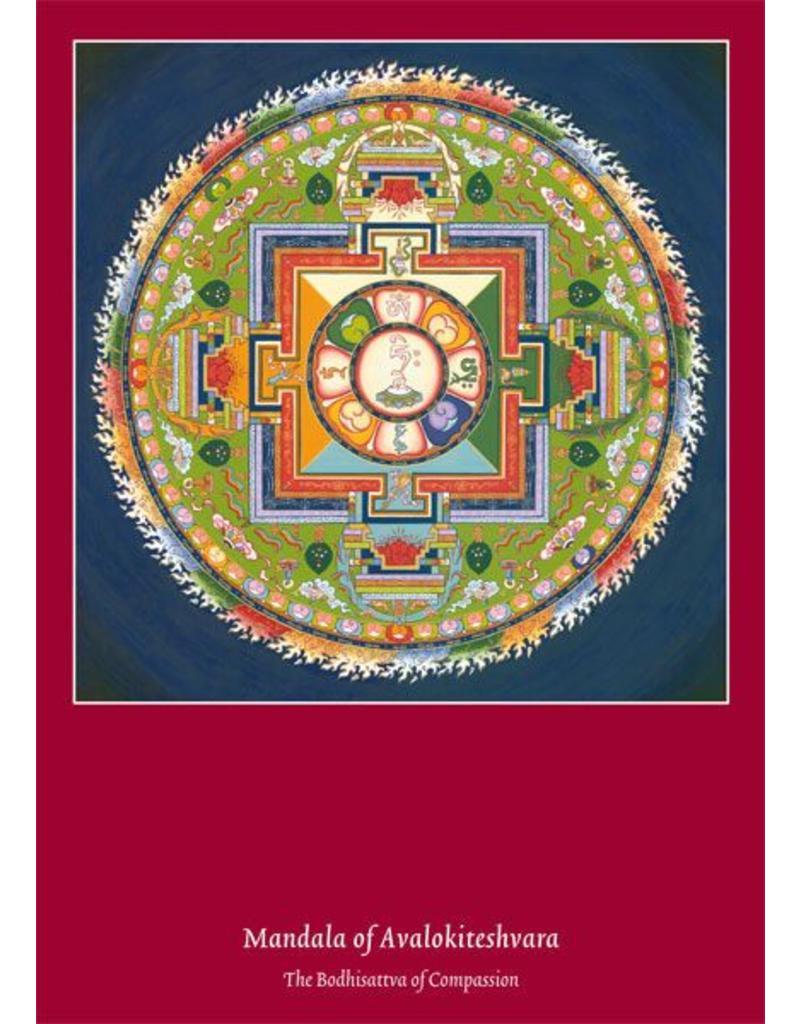 Tibetan Buddhist Art postkaart Mandala van Avalokiteshvara