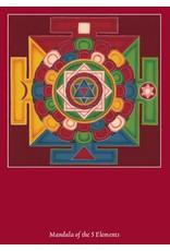Tibetan Buddhist Art postkaart Mandala van de 5 Elementen