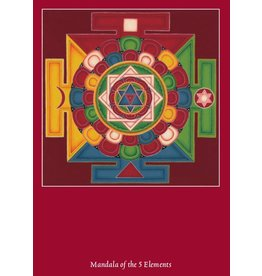 Tibetan Buddhist Art postcard Mandala 5 Elements