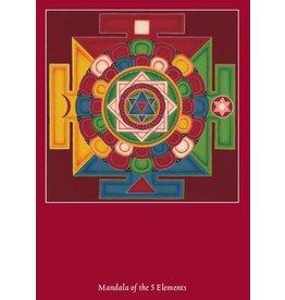 Tibetan Buddhist Art postkaart Mandala 5 Elementen