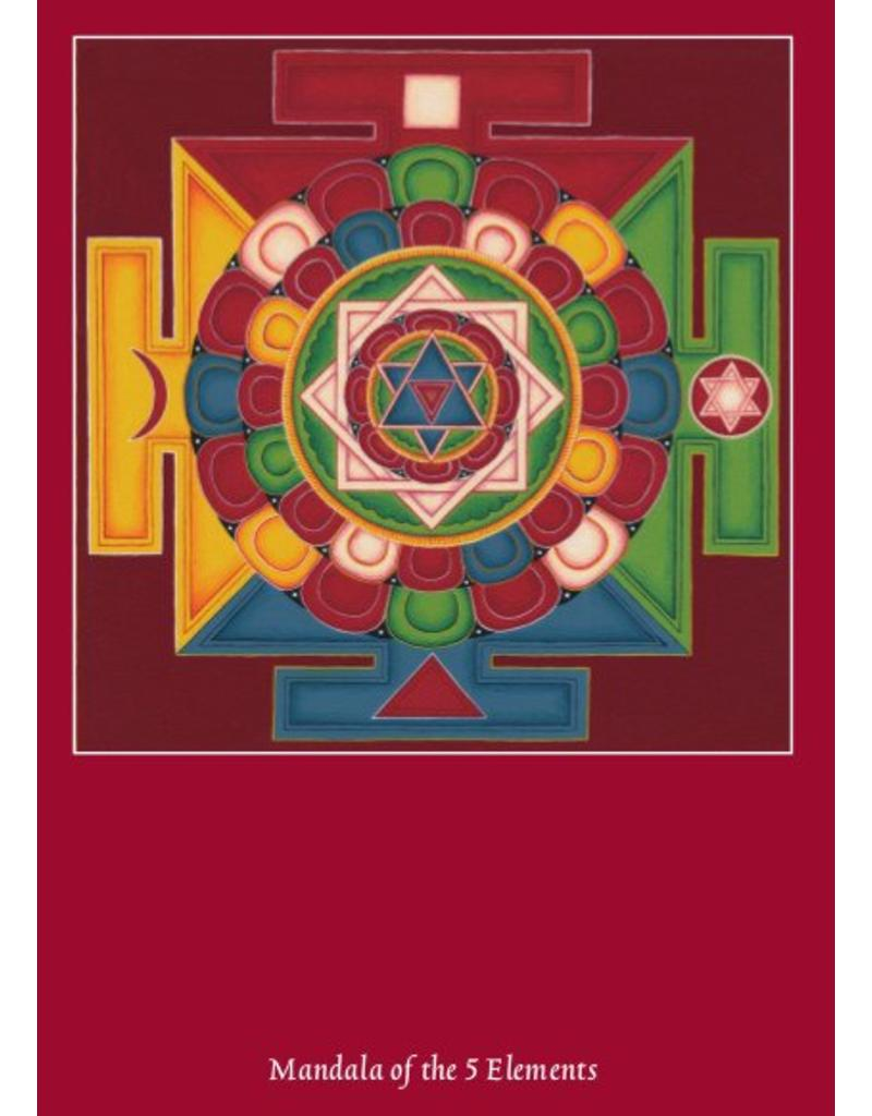 Tibetan Buddhist Art postcard Mandala of the 5 Elements