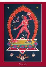 Tibetan Buddhist Art postkaart Vajrayogini
