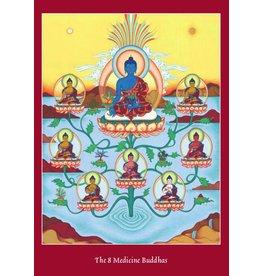 Tibetan Buddhist Art postkaart 8 Medicijn Boeddha's
